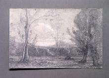 Antonio Fontanesi, Alla sorgente in una valletta con alberi