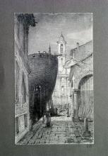 Fontanesi, Cantiere navale presso una chiesa (Chiavari?)