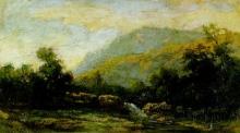 Fontanesi, Cascatella tra la boscaglia sotto il salice