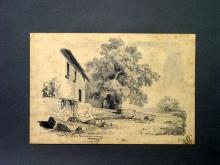 Fontanesi, Casetta rustica all'ombra di grande albero