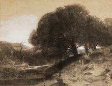 Fontanesi, Fiume e alberi