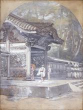 Fontanesi, Ingresso di un tempio in Giappone
