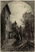 Fontanesi, La Treille, la torre Baudet e la casa Turrettini, a Ginevra