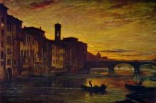 Fontanesi, Lungarno presso il ponte a Santa Trinita