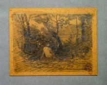 Antonio Fontanesi, Nudo femminile in un bosco