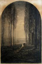 Fontanesi, Paesaggio con alberi e ruscello