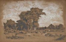 Fontanesi, Paesaggio con animali