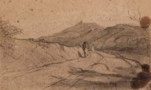 Fontanesi, Paesaggio con figure   Landscape with figures