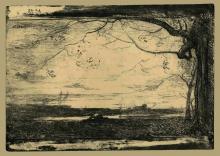 Fontanesi, Paesaggio con uomo che si disseta