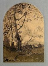 Antonio Fontanesi, Pastorella che fila a pie' di un albero