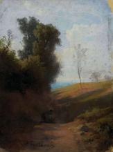 Fontanesi, Raccoglitrice di rami secchi ai margini della foresta | Reisigsammlerin am Waldrand