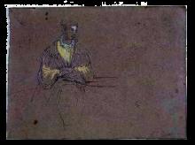 Fontanesi, Ritratto femminile [verso]
