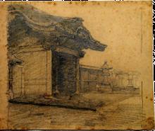 Antonio Fontanesi, Tempio in Giappone