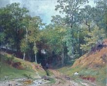 Achille Formis (attribuito a), La strada per il bosco