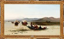 Achille Formis, Barche sulla laguna