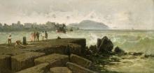Achille Formis, Mareggiata a Napoli