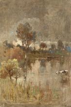 Achille Formis, Paesaggio lacustre
