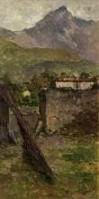 Achille Formis, Paesaggio montano con edifici
