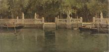 Achille Formis, Scorcio del giardino della Villa d'Este, Como