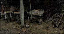 Achille Formis, Sotto portico con carri