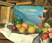 Carlo Fornara, Natura morta con frutti e fiori
