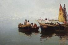 Fragiacomo, Barcaioli in laguna.jpg