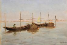 Fragiacomo, Barche in laguna.png