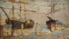 Fragiacomo, Barche in porto.jpg