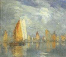 Pietro Fragiacomo, Venezia, vele in laguna