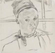 Gauguin, Busto di giovane donna bretone (forse Marie Lagadu) | Buste d'une jeune Bretonne (peut-être Marie Lagadu) | Bust of a young Breton woman (possibly Marie Lagadu)