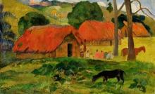 Gauguin, Cane davanti alla capanna, Tahiti | Dog in front of the hut, Tahiti