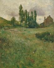Gauguin, Cani che corrono in un prato | Chiens courant dans une prairie | Dogs running in a meadow