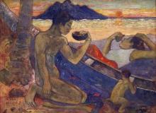 Gauguin, Canoa (Famiglia tahitiana) | Canoë (Famille tahitienne) | Canoe (Tahitian family)
