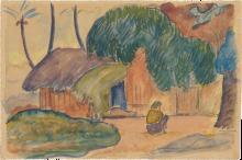 Gauguin, Capanna tahitiana   Cabane tahitienne   Tahitian hut