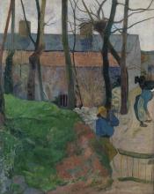 Gauguin, Case a Le Pouldu   Maisons à Le Pouldu   Houses in Le Pouldu   Häuser in Le Pouldu