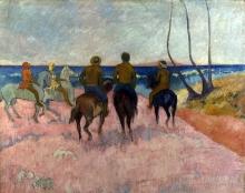 Gauguin, Cavalieri sulla spiaggia (I)   Cavaliers sur la plage (I)   Riders on the beach (I)   Reiter am Strand (I)