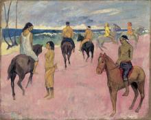 Gauguin, Cavalieri sulla spiaggia (II)   Cavaliers sur la plage (II)   Riders on the Beach (II)