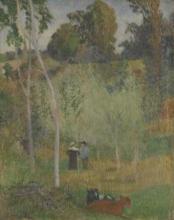 Gauguin, Conversazione nei prati. Pont Aven   Conversation dans les prés. Pont-Aven   Conversation in the meadows. Pont-Aven