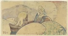 Gauguin, Coppia di pescatori bretoni in barca | Couple de pêcheurs bretons dans le bateau | Breton fisherman couple in the boat | Bretonisches Fischerpaar im Boot