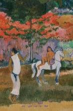 Gauguin, Donne e un cavallo bianco [dettaglio] | Femmes et un cheval blanc [détail] | Women and a white horse [detail]