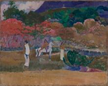 Gauguin, Donne e un cavallo bianco | Femmes et un cheval blanc | Women and a white horse