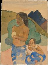 Gauguin, Due tahitiane in un paesaggio   Deux tahitiennes dans un paysage   Two Tahitian women in a landscape