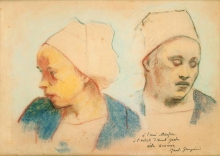 Gauguin, Due teste di donne bretoni | Deux têtes de bretonnes