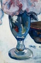 Gauguin, Fiori e una ciotola di frutta su una tavola [dettaglio]   Fleurs et un bol de fruits sur une table [détail]   Flowers and a bowl of fruit on a table