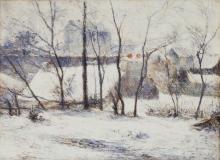 Gauguin, Giardino sotto la neve | Jardin sous la neige | Garden under snow