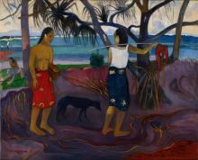 Paul Gauguin, I raro te oviri | Sotto il pandanus | Sous le pandanus | Under the pandanus