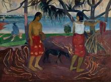 Gauguin, I raro te oviri   Sotto il pandanus   Sous le pandanus   Under the pandanus