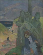 Gauguin, Il calvario bretone   Le calvaire breton   The Breton calvary