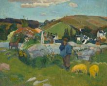 Gauguin, Il guardiano di porci | Le porcher | The swineherd | Der Schweinehirt
