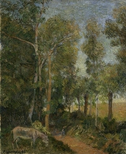 Gauguin, Il limitare della foresta (III)   La lisière de la forêt (III)   The edge of the forest (III)